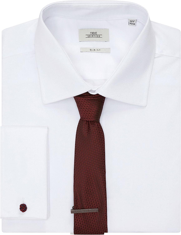 next Hombre Conjunto De Camisa Formal Blanca Manga Larga Mezcla De ...