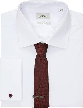 next Hombre Conjunto De Camisa Formal Blanca Manga Larga ...