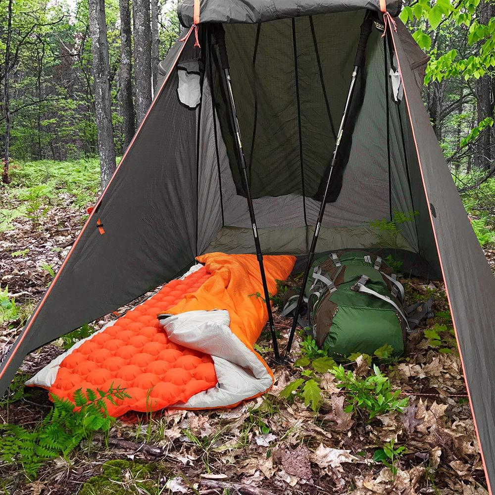 Voyage Bessport Matelas Autogonflants Large Matelas de Camping Gonflable Tapis de Couchage d/'air Ultral/éger R/ésistant /à lhumidit/é 195 x 66 x 6.8cm pour Camping Randonn/ée-Orange