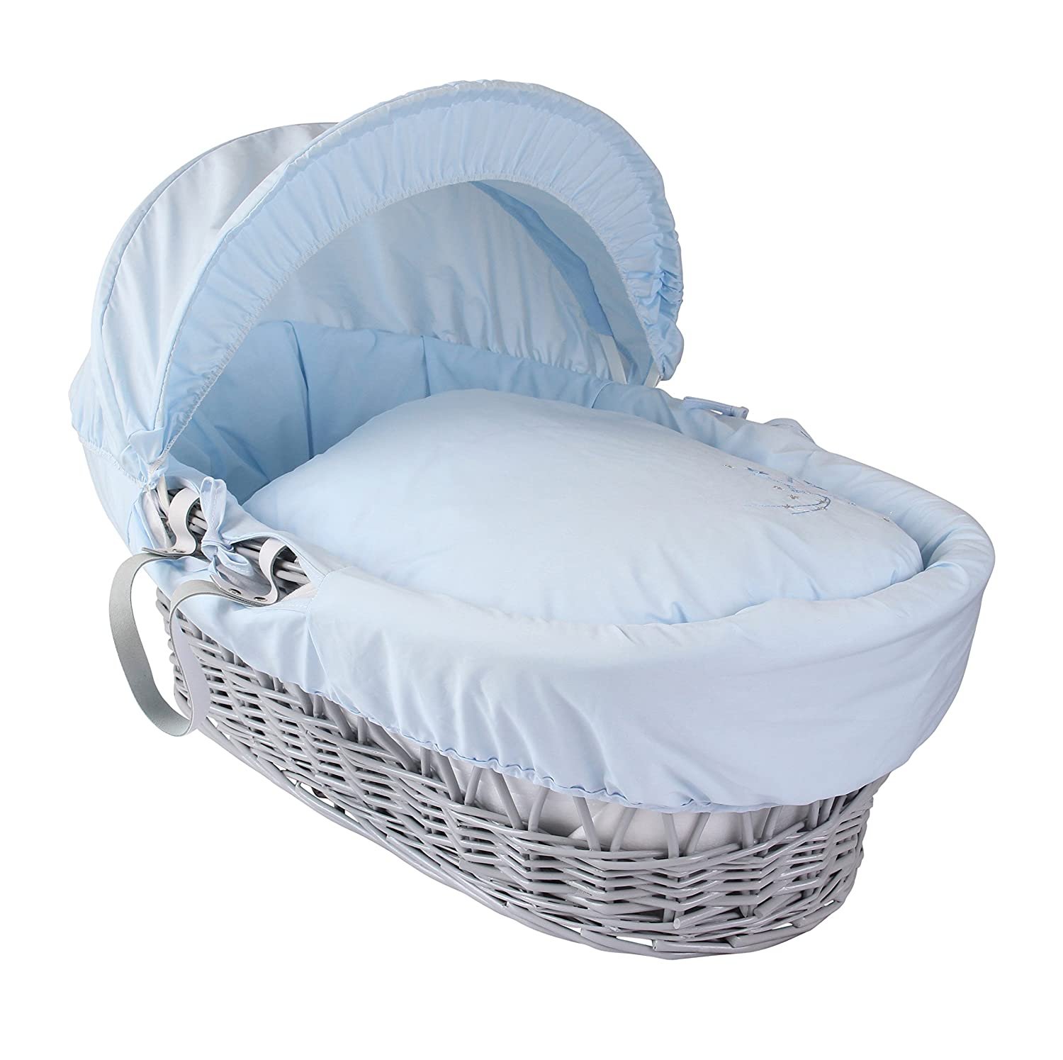 Blanc Clair de Lune Deluxe Rocking Moses Basket Stand