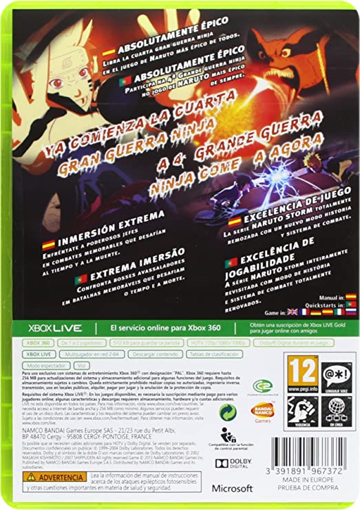 Naruto Shippuden: Ultimate Ninja Storm 3 - Day One Edition ...