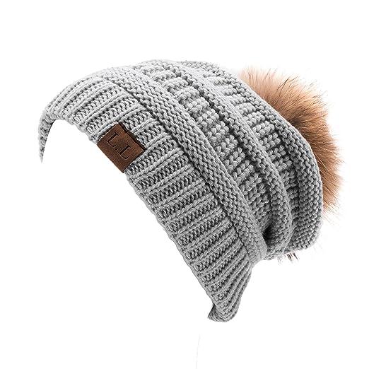 7623990fad2 Lawliet Womens Unisex Winter Hat Pom Pom Slouchy Knit Beanie Ski Cap  A404( 10
