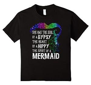 Kids The Gypsy Soul The Hippy Heart The Mermaid Spirit TShirt 8 Black