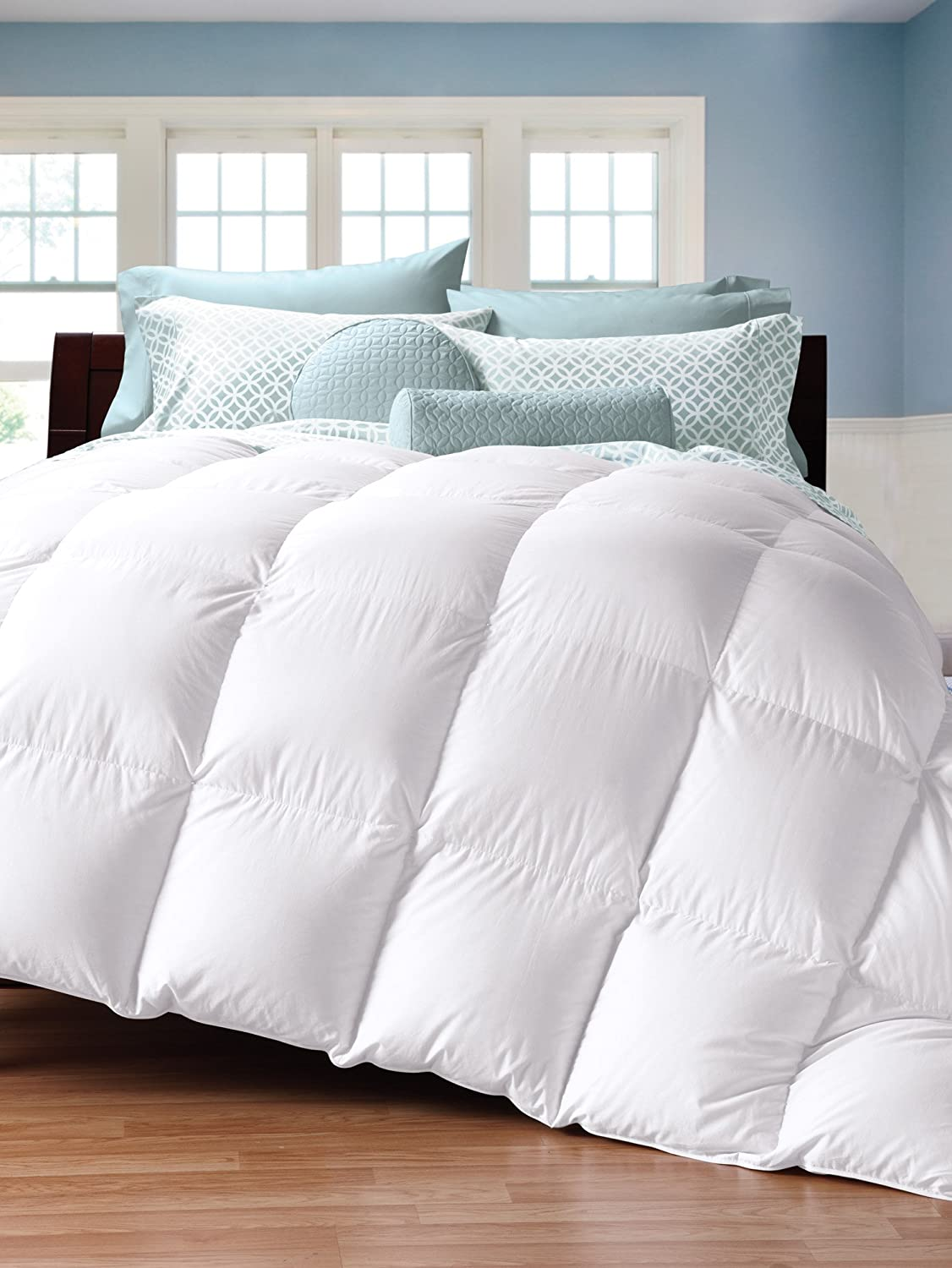 Cuddledown 450TC Down Comforter, Full, Level 4, White