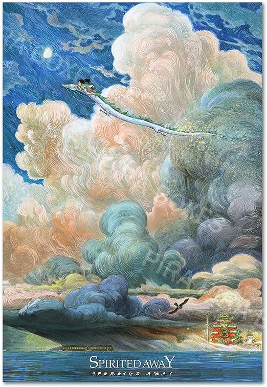 Amazon Com Pira Pira Boxes Spirited Away Poster 2020 Version Chinese Art Studio Ghibli Exclusive Artwork 13x19 Posters Prints