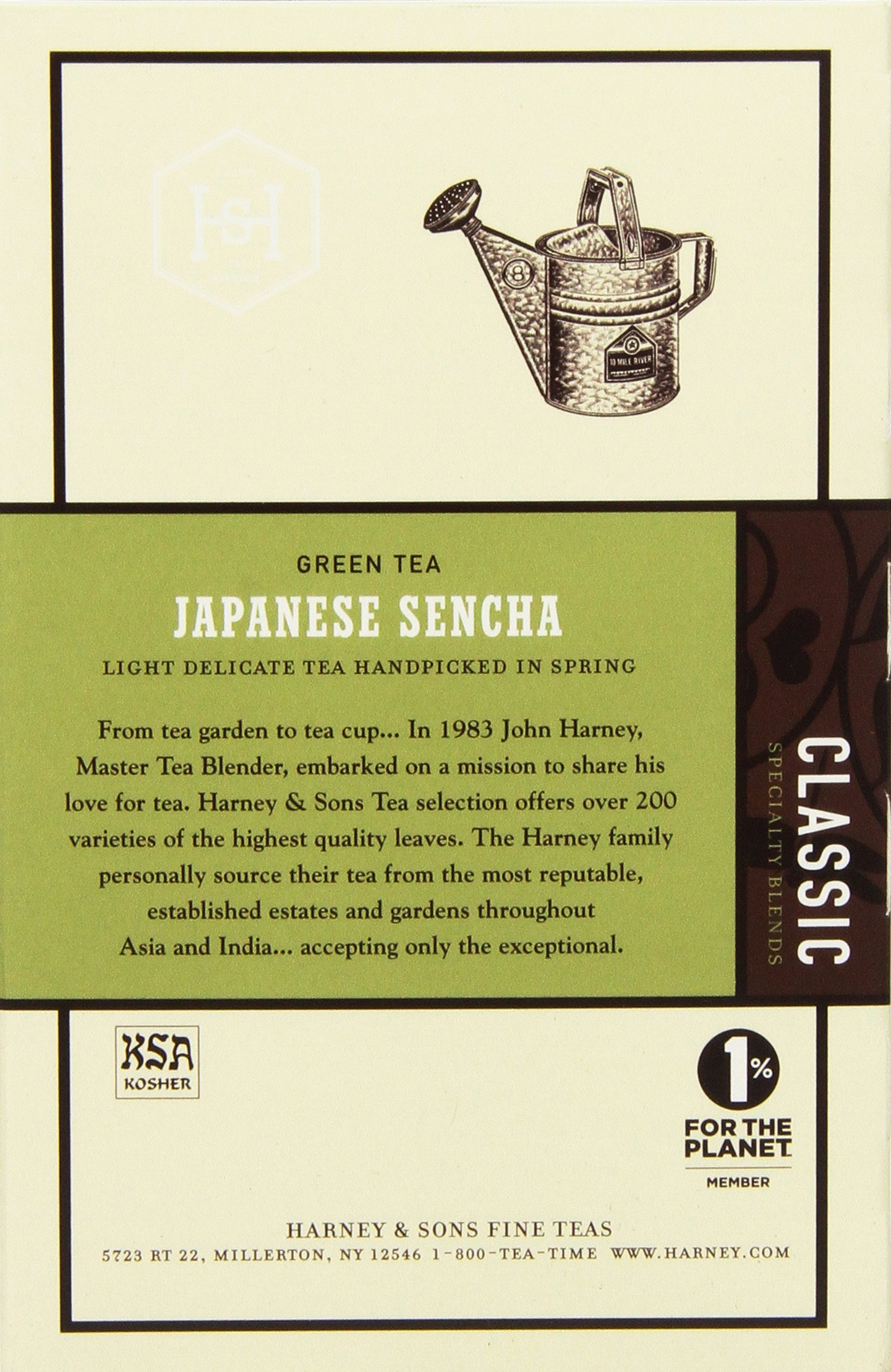 Harney & Sons Green Tea, Japanese Sencha, 20 Sachets, Pack of 6 by Harney & Sons (Image #4)