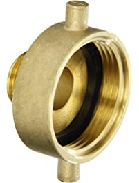 """Dixon Valve HA1576 Brass Fire Equipment, Hydrant Adapter with Pin Lug, 1-1/2"""" NST (NH) Female x 3/4"""" GHT Male"""
