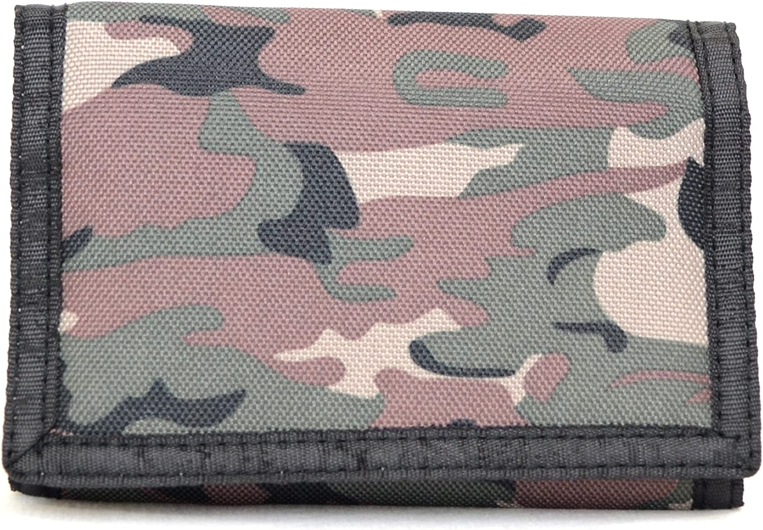 Kids Army Camouflage Wallet Compartment Nylon Trifold Young Boys Camo Hunting