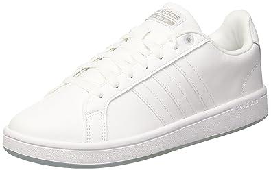 adidas neo - uomini di vantaggio ftwwht / ftwwht / gretwo scarpe di cuoio