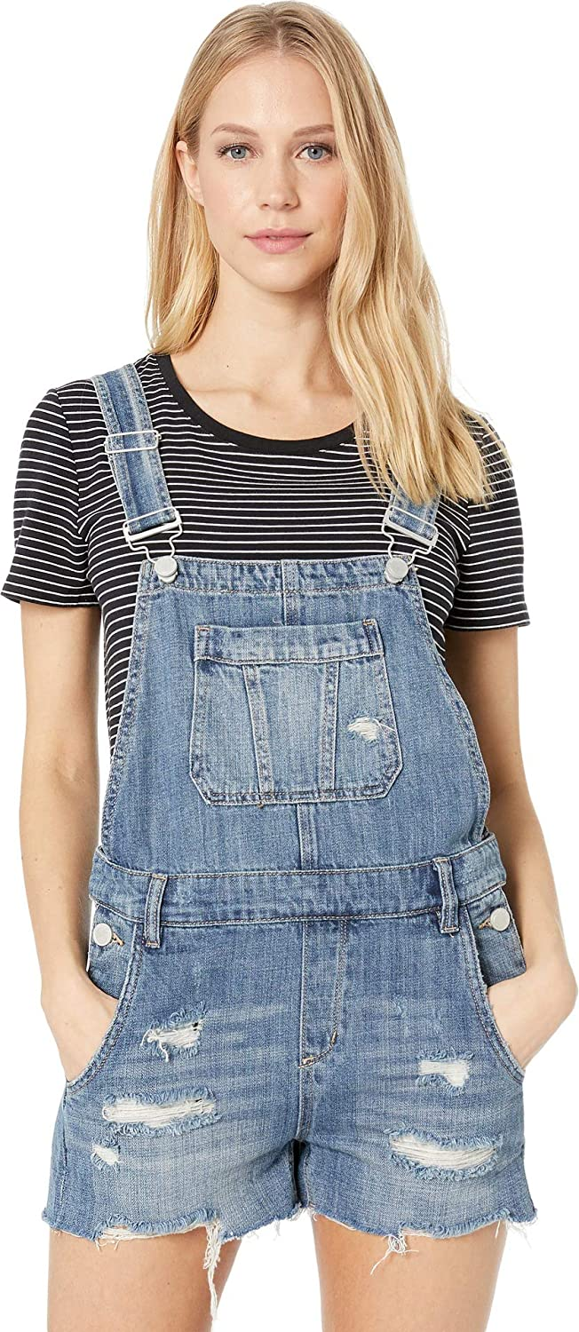 1acd5e347f Blank NYC Womens Denim Short Overalls in Fling Cleaning at Amazon Women s  Clothing store