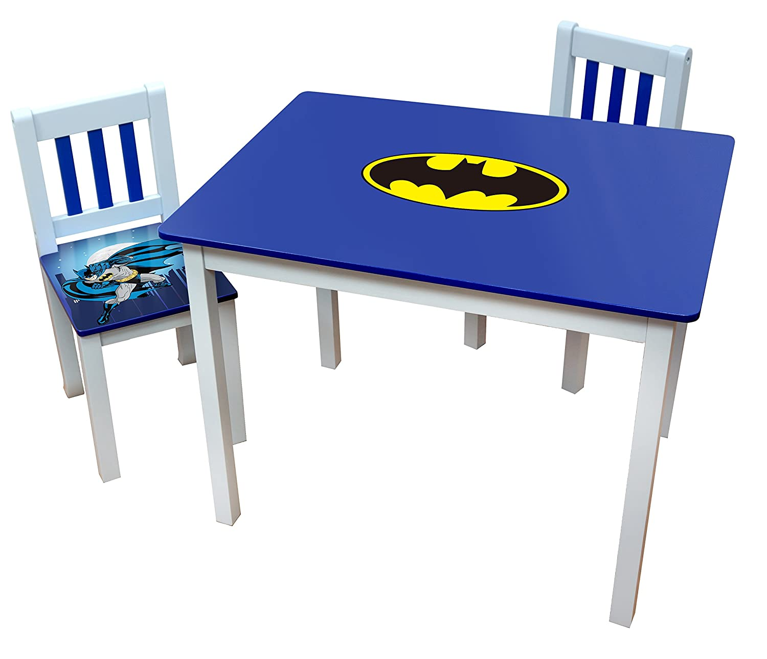 Pleasing Amazon Com Okids Batman Wooden Table And Chair Set Machost Co Dining Chair Design Ideas Machostcouk