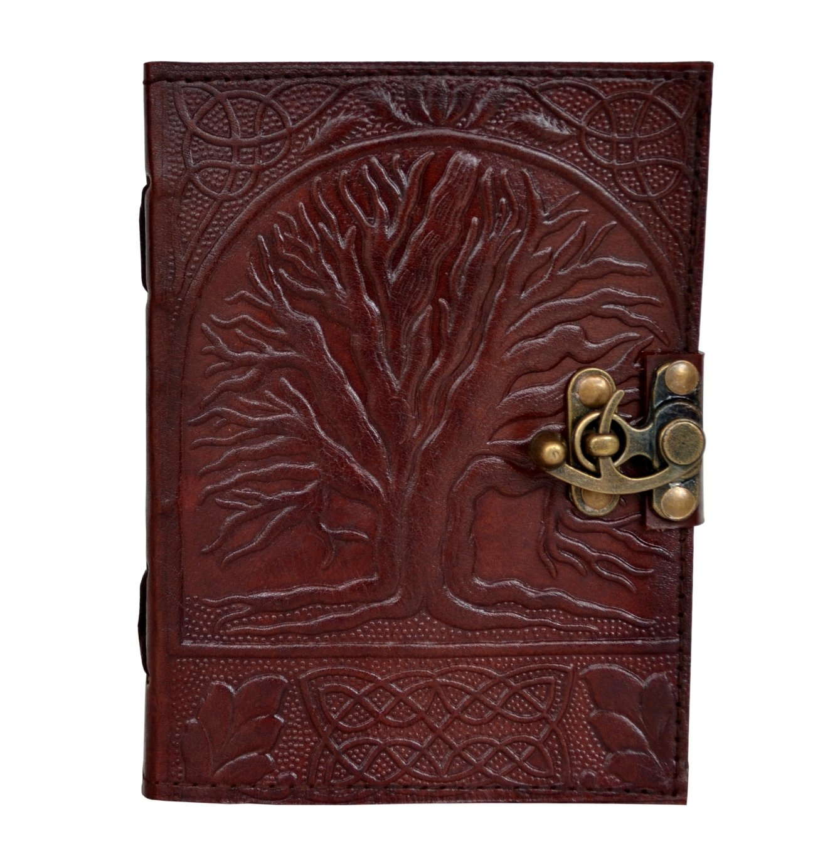 New Design Vintage Leather Celtic Tree OF Life Journal Handmade Notebook Journa