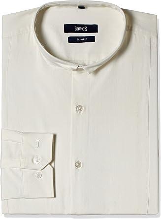 Conceptos Basics De Auto Smart Longsleeves Hombre Camisas Xxl Blanco: Amazon.es: Ropa y accesorios