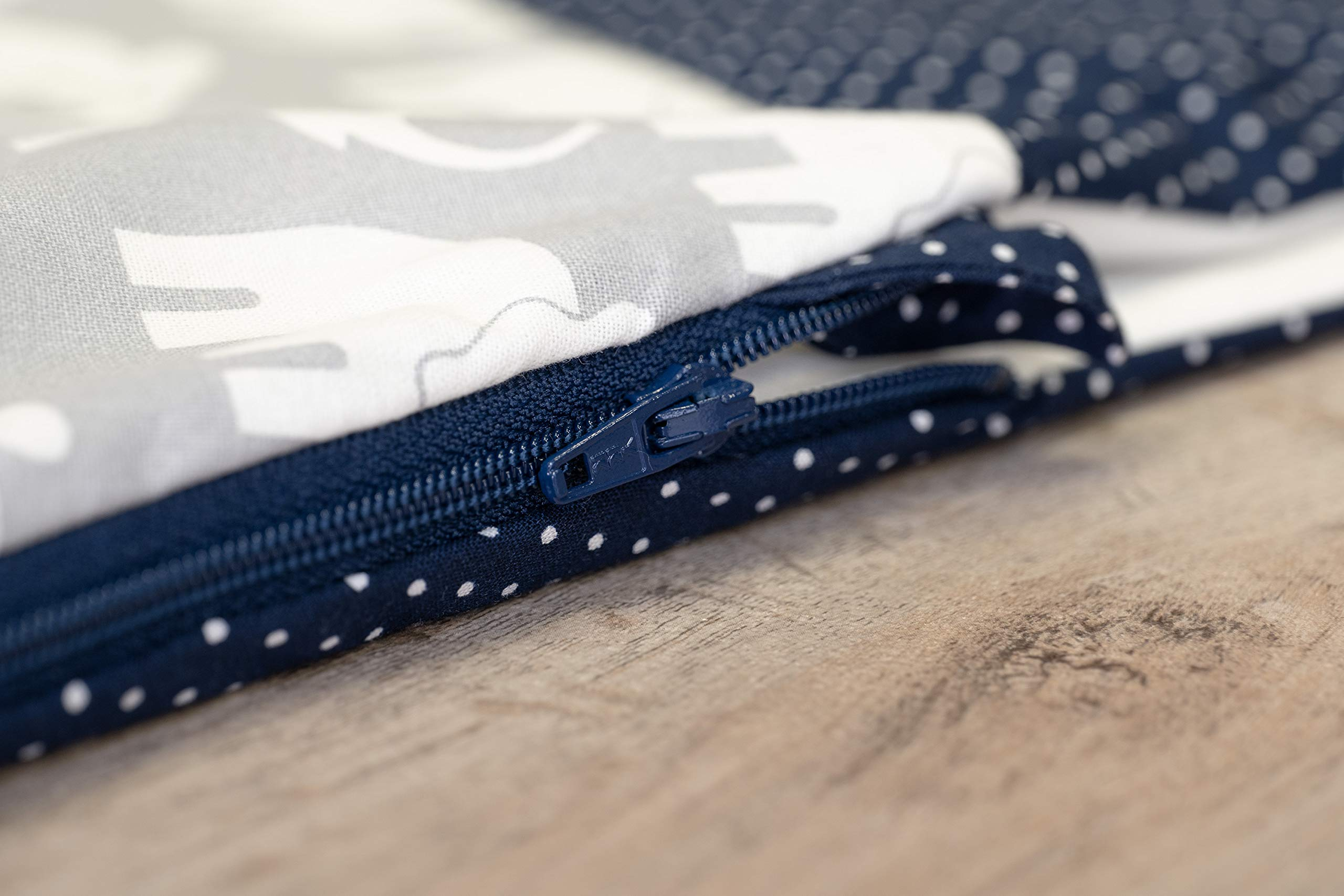 190x38 cm, Inlett: WEICHE FASERB/ÄLLCHEN, Lagerungskissen, Schwangerschaftskissen, Seitenschl/äferkissen ULLENBOOM /® Stillkissen Blau Hellblau Grau