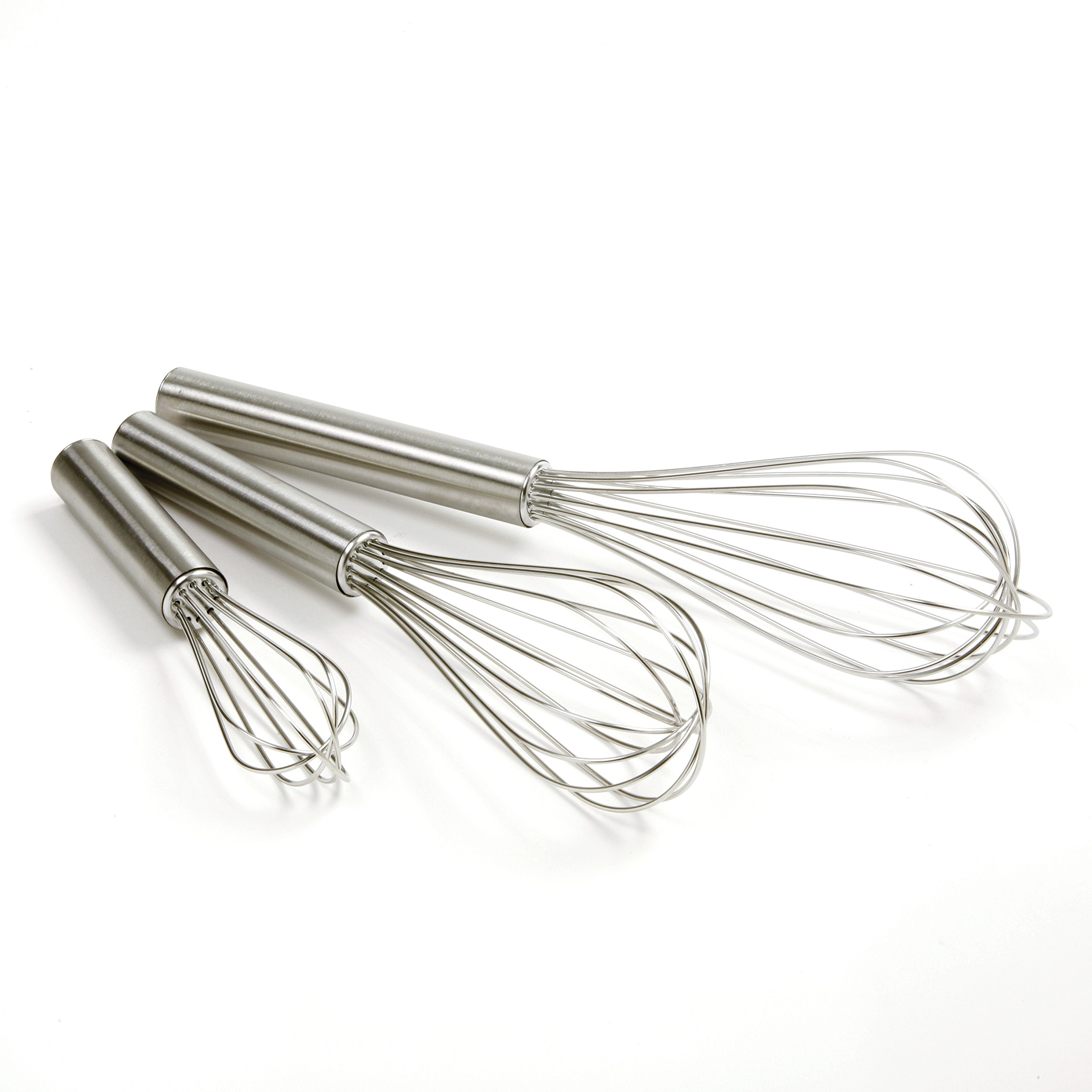 Norpro Balloon Wire Whisk Set of 3 Stainless Steel Stir/Mix/Beat 6'' /8''/ 10''