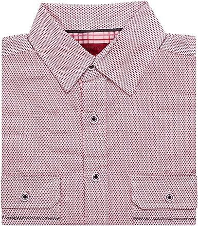 Bizzo Camisa de Vestir de Manga Corta para Hombre, diseño Estampado, Colores - Rosa - X-Large: Amazon.es: Ropa y accesorios