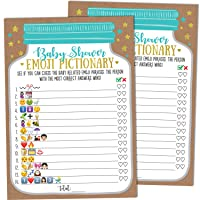 Baby Shower Emoji Pictionary Game, 25 Cards - Gender Neutral Boy or Girl, Mason Jar Design, Baby Shower Games, Baby Shower Decorations, Baby Shower Favors, Gender Reveal