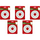 Scotch Brand 112L Permanent Mounting Tape, 1 Inch x 125 Inches, White, 5 Pack