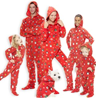 Footed Pajamas - Family Matching Red Christmas Hoodie Onesies for Boys 90d0073d2