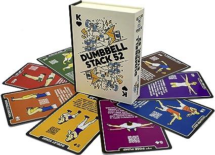 Stack 52 tarjetas de ejercicio con mancuernas.: Amazon.es ...