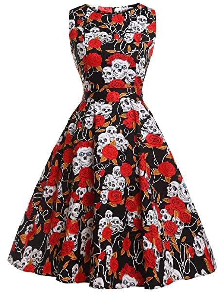 a814ebc2ab6 FAIRY COUPLE 50s Vintage Retro Floral Cocktail Swing Party Dress with Bow  DRT017(S