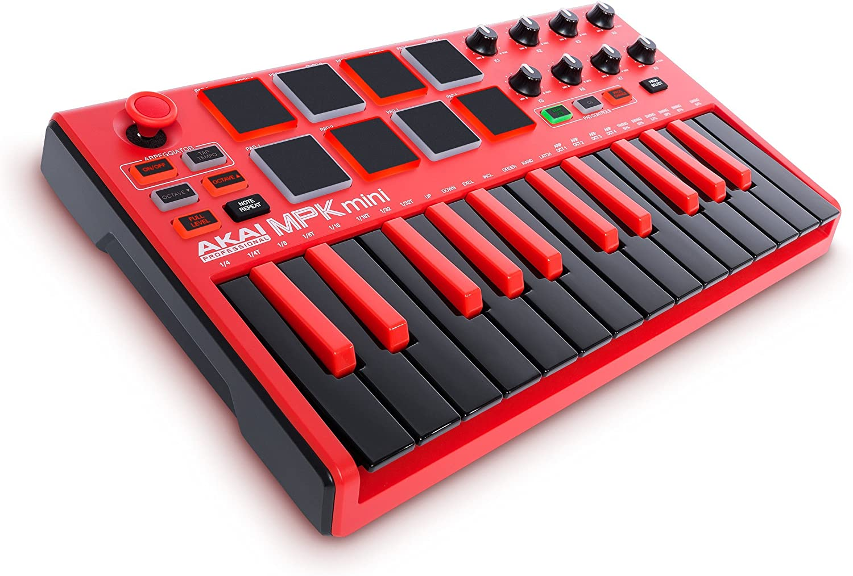 AKAI Professional MPK Mini MKII LE Red 25-Key Portable USB MIDI Keyboard:  Amazon.co.uk: Musical Instruments