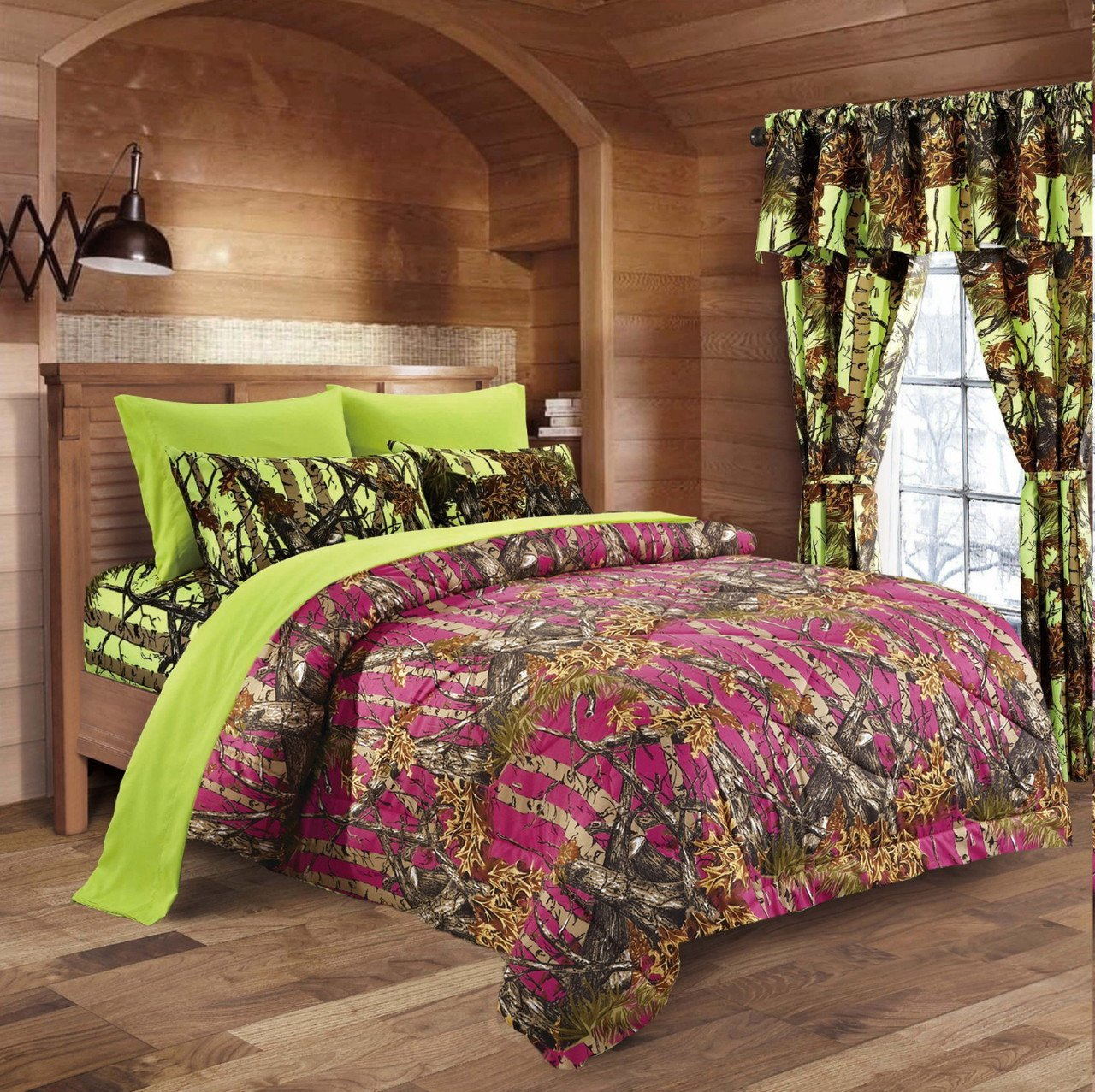 20 Lakes Camo Comforter, Sheet, & Pillowcase Set