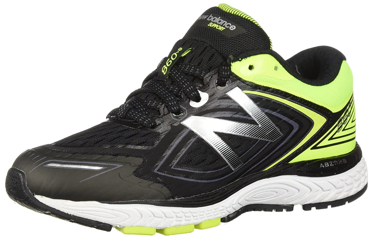New Balance Unisex Kid's 860v8 Running-schuhe, schwarz Hi Lite, 3 XW US Little Kid