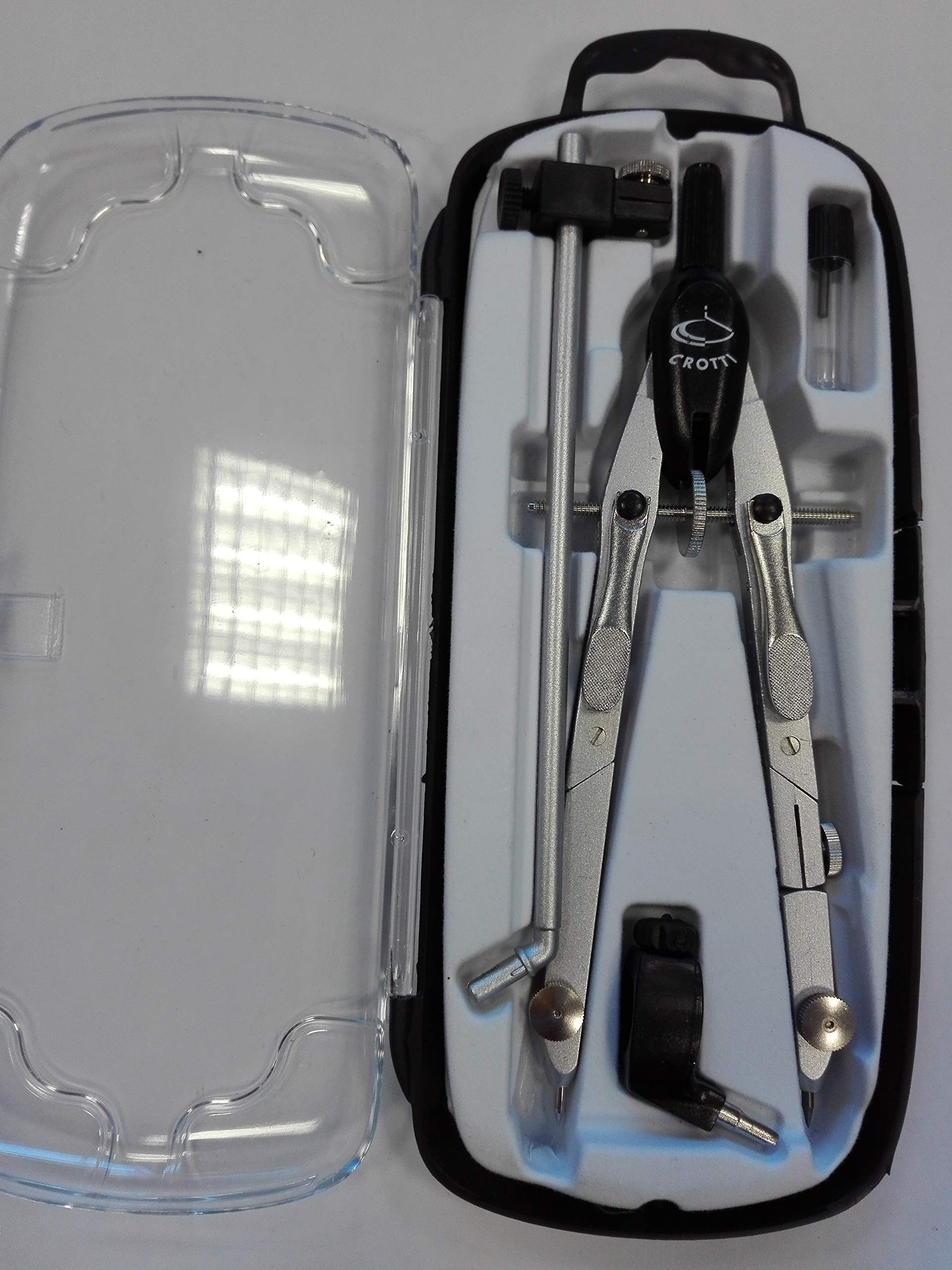 Metal balaustrone Double Joint with Quick Adjustment by Means of Metal levers - Silver with Black Head.
