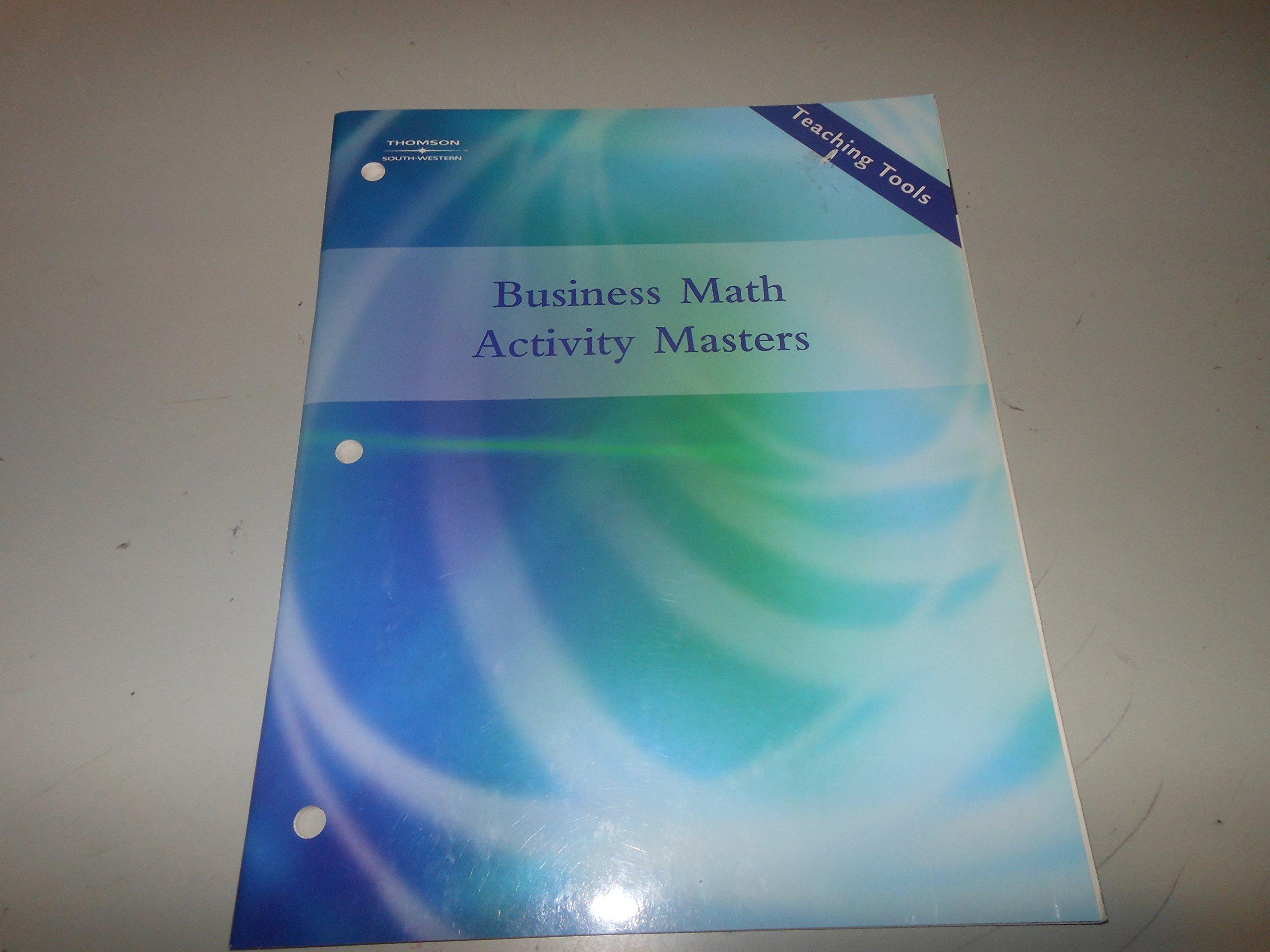 Business Math Activity Masters: BURROW, EGGLAND, DLABAY ...