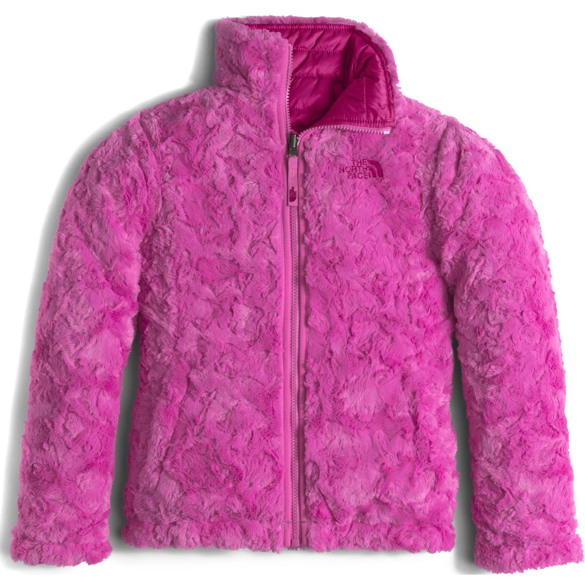 The North Face Reversible Mossbud Swirl Jacket Girls' Roxbury Pink Large by The North Face