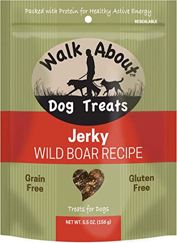 Walk About Pet, Dog Jerky Treats, Grain-Free, Gluten-Free, Single Source Protein