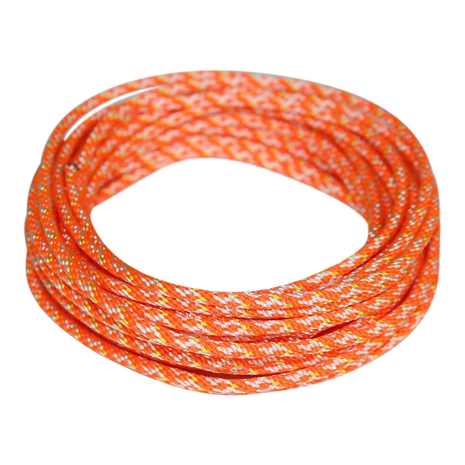 Replacement Cord Rope for Lawn Mowers Snowblowers Leaf Blowers More Small Engine Starter Rope Dacron Polyester Pull Cord Solid Braid Rope Generators #4 300 feet, Orange - SGT KNOTS