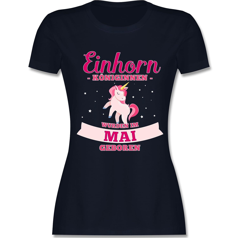 Shirtracer Geburtstag - Einhorn Königinnen Wurden IM Mai Geboren - Damen T-Shirt  Rundhals: Shirtracer: Amazon.de: Bekleidung