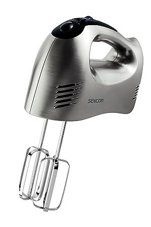 Sencor SHM 6203SS - Batidora manual (5 niveles de velocidad, botón turbo, diseño