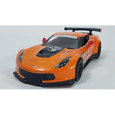 KiNSMART 2016 Pratt & Miller Orange Chevy Corvette C7 #3 Racing 1/36 Scale Diecast: Toys & Games