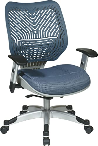 Cheap SPACE Seating REVV Self Adjusting SpaceFlex Blue Mist Backrest Support and Padded Blue Mist Mesh Seat office desk chair for sale