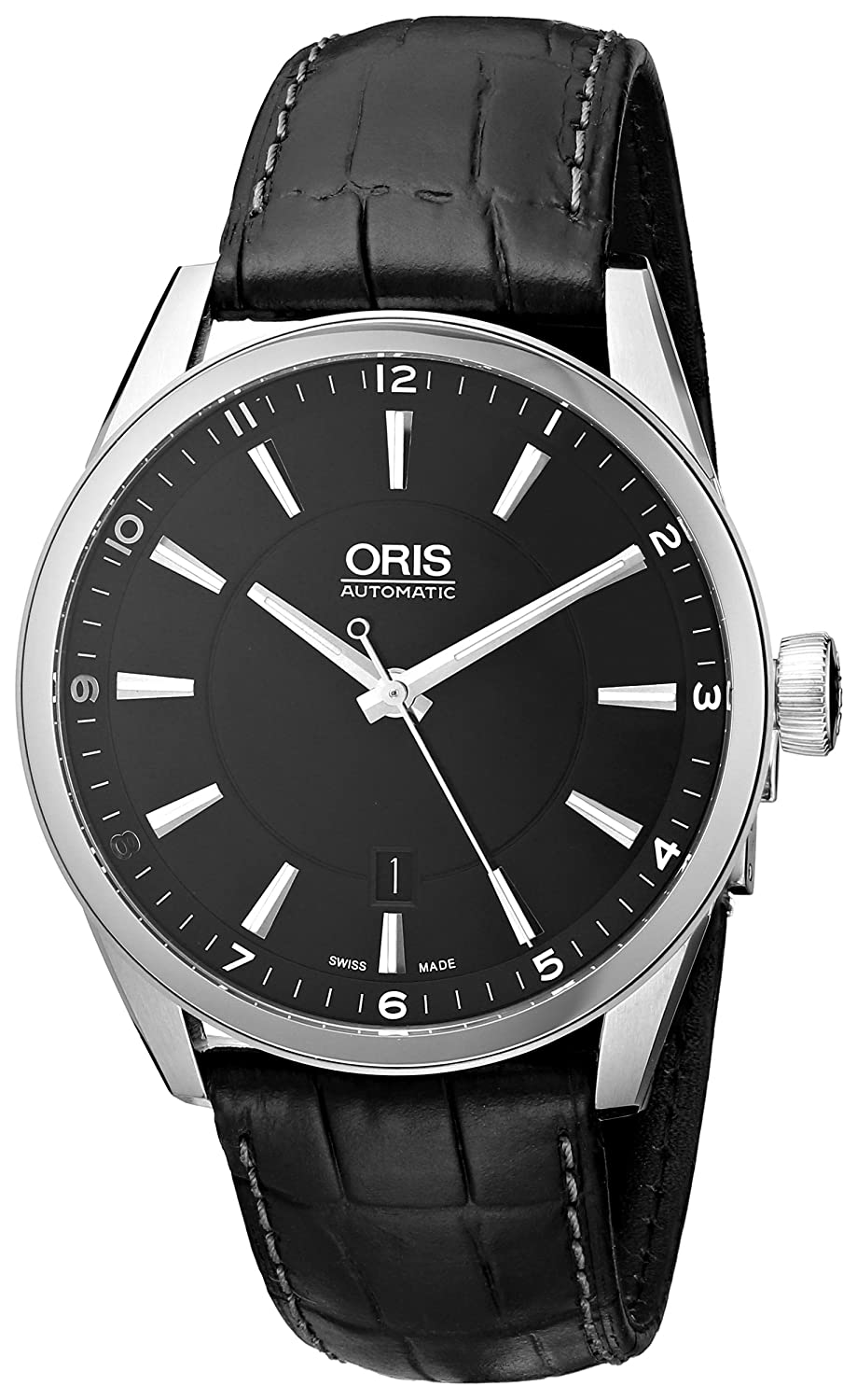 Orisメンズ73376424054 – 0752181 FC Leather Synthetic with Black Dial Watch B007PP4P7W