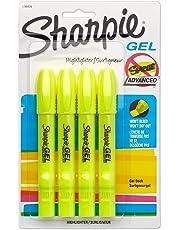 Sharpie 1780476 Accent Gel Highlighter, Fluorescent Yellow, 4-Pack