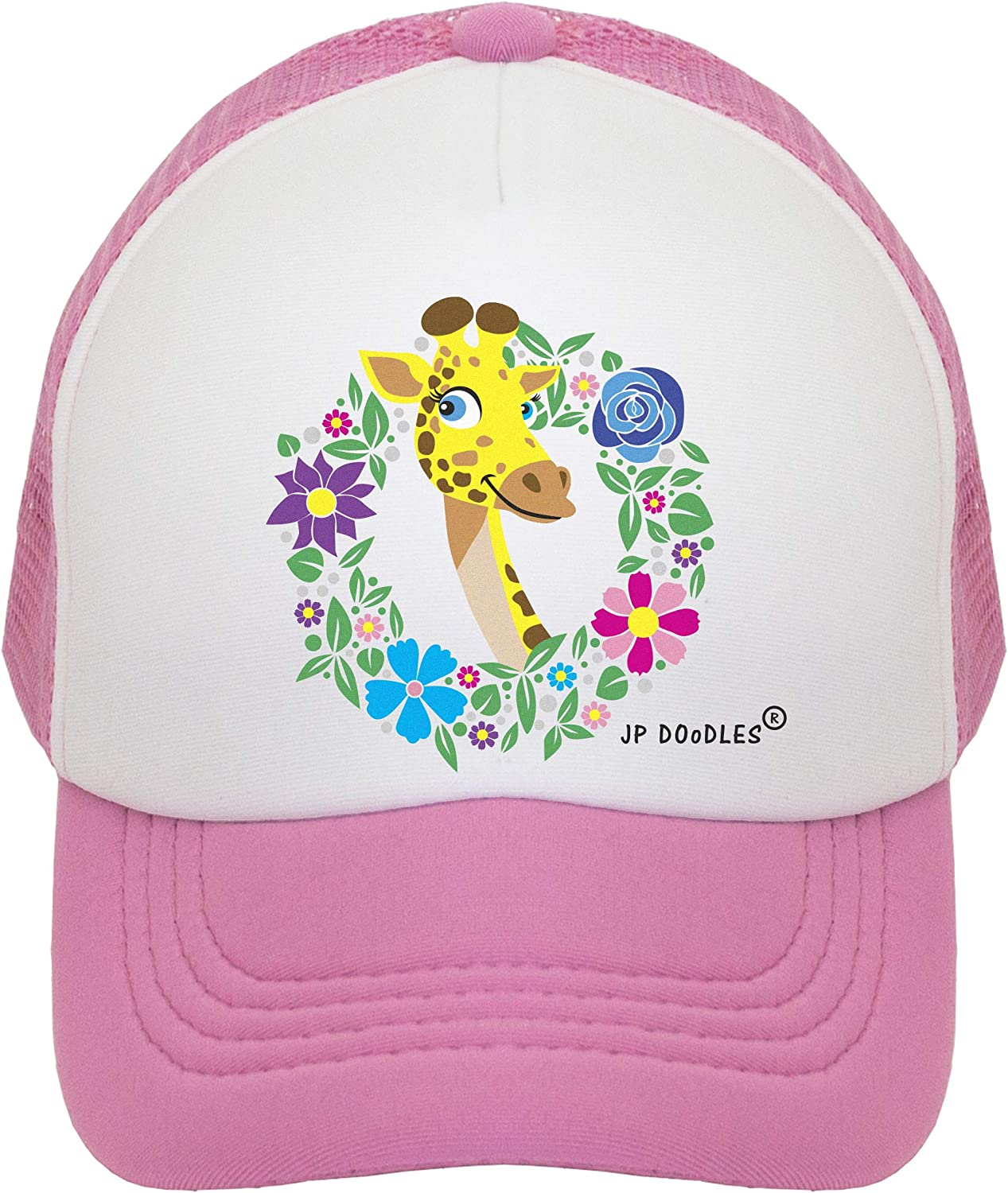 Toddler and Youth JP DOoDLES Giraffe Hat Kids Trucker Hat Baseball Mesh Back Cap fits Baby