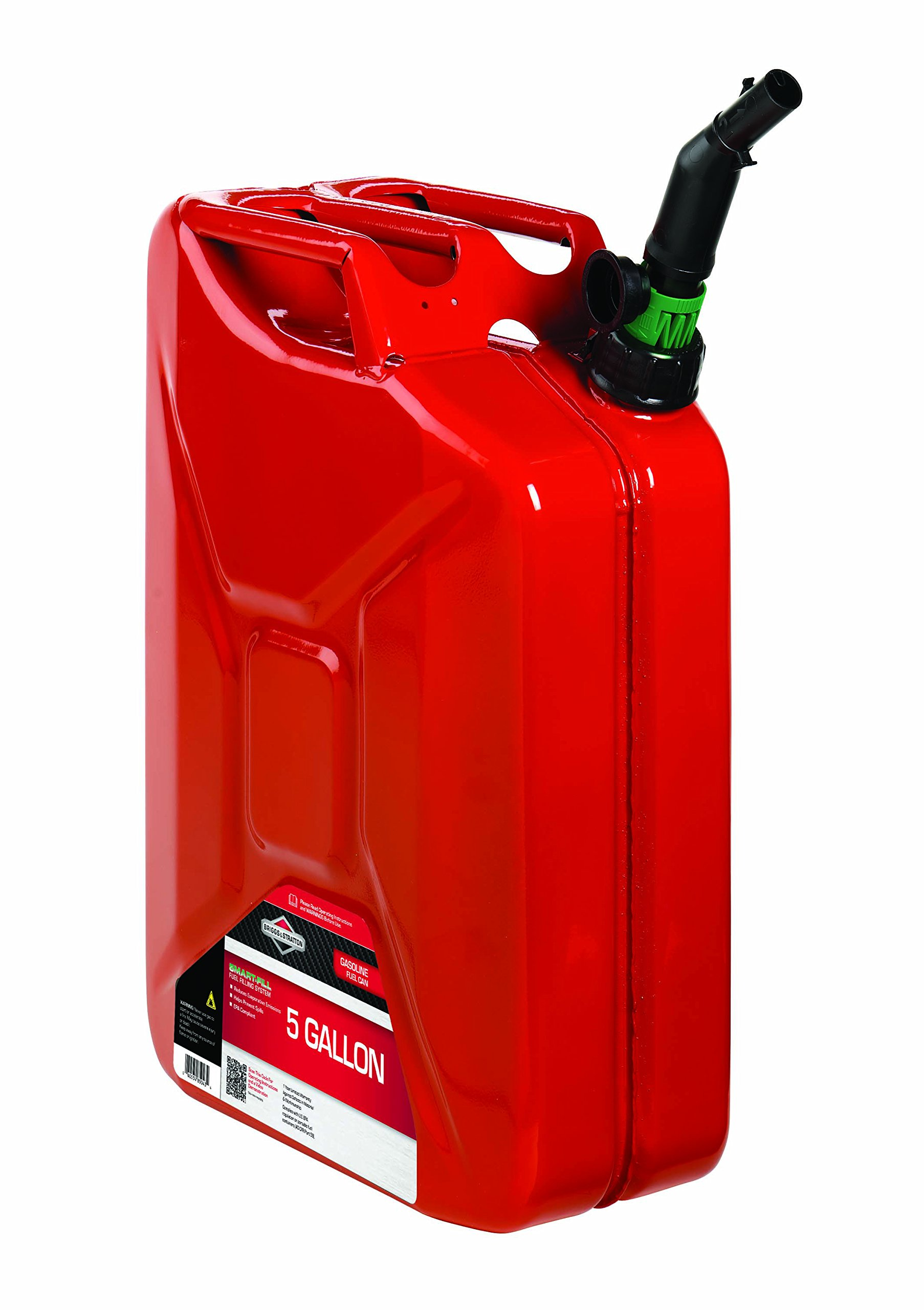 Briggs & Stratton 85043 5 Gallon Spill Proof Metal Gas Can