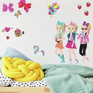 RoomMates - RMK4253SCS Jojo Siwa Cartoon Peel And Stick Wall Decals | Pink Wall Stickers