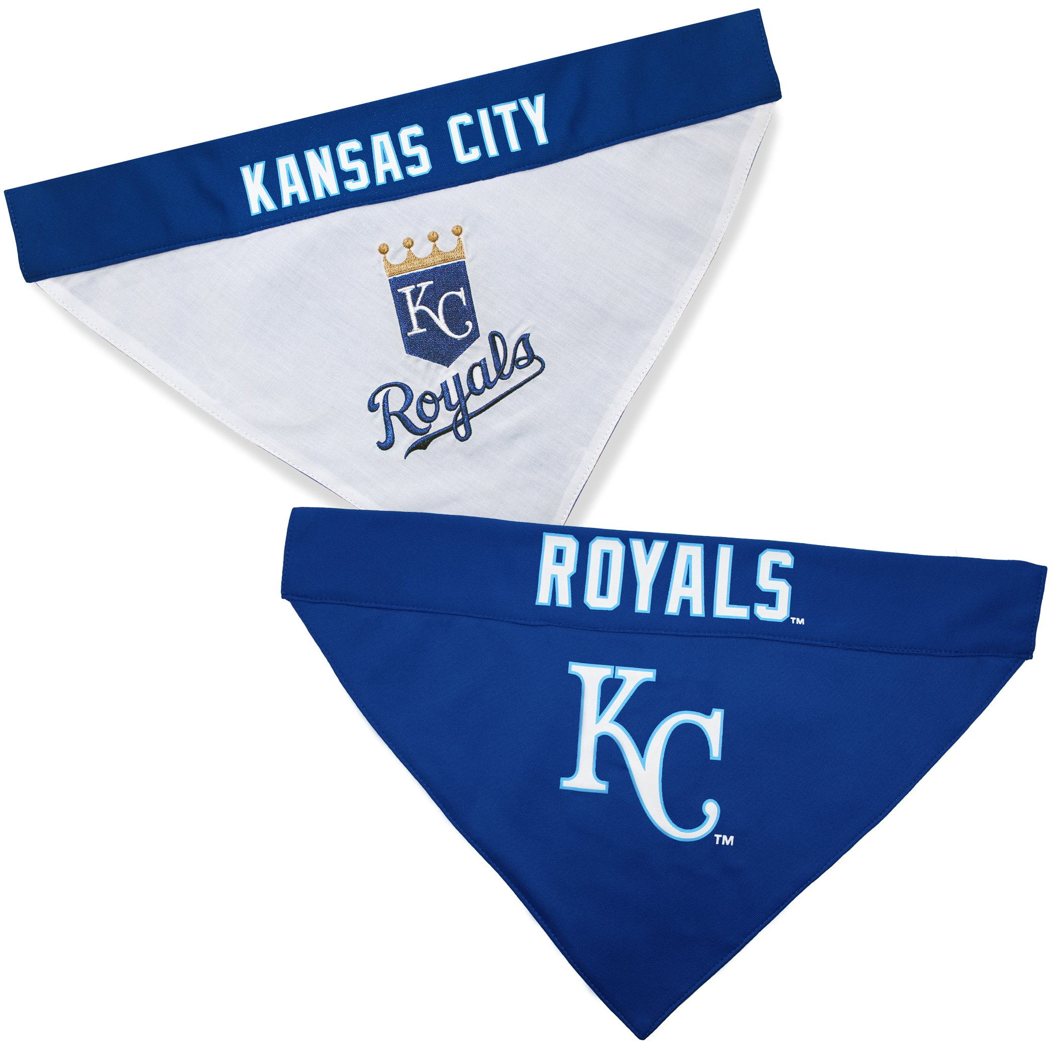 Pets First ROY-3217-S-M MLB Kansas City Royals Reversible Pet Bandana, Small/Medium, MLB Team Color