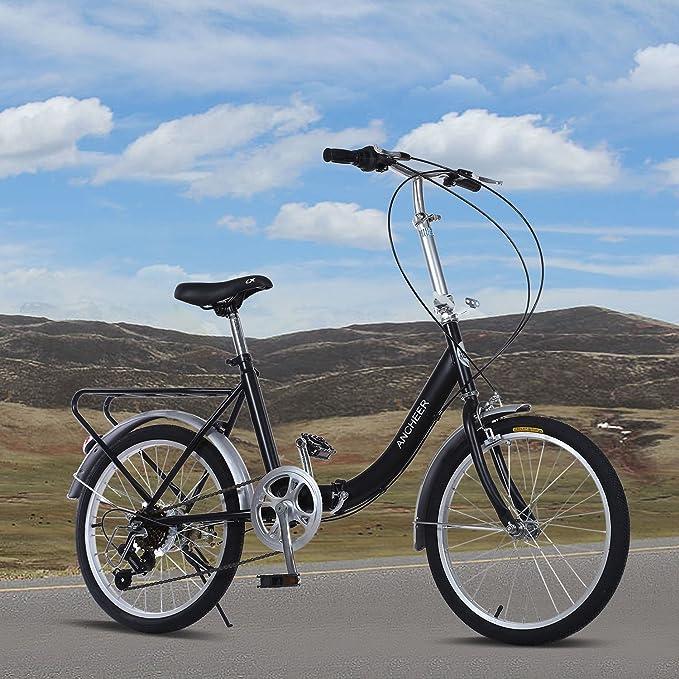 Ancheer 7 velocidad bicicleta plegable 20 Loop plegable para bicicleta: Amazon.es: Deportes y aire libre