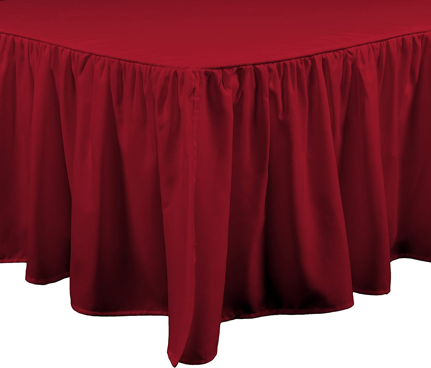 Brielle Essentials Bedskirt, Full, Red