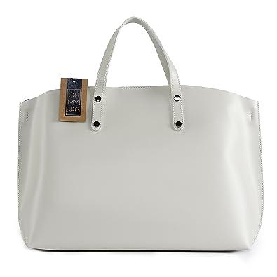 OH MY BAG Sac à main en cuir glacé Chantilly beige SOLDES  Amazon.fr ... b5d220103c51