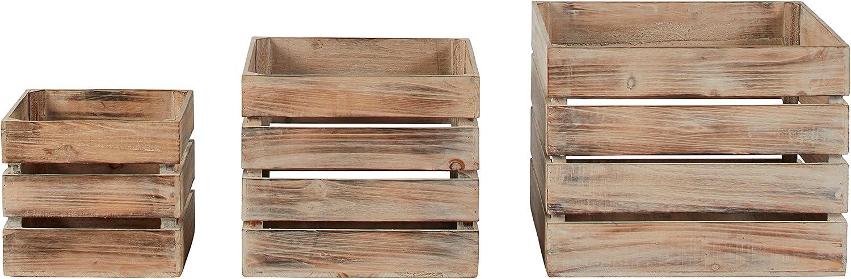 Amazon.com: Stone & Beam - Lote de 3 contenedores de madera ...