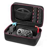 Nintendo Switch Case - Younik Deluxe Hard Shell Carrying Case for Switch Console, Switch Dock, AC Adapter, HDMI Cable, Pro Controller and 10 Game Cartridges