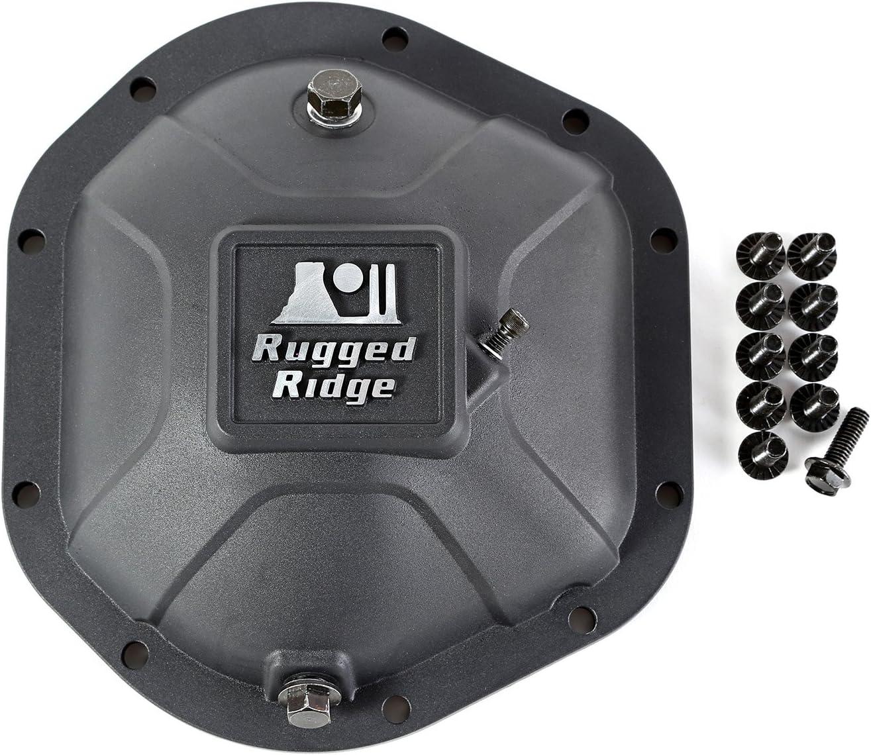 Rugged Ridge 16595.12 Black Boulder Aluminum Differential Cover for Dana 44