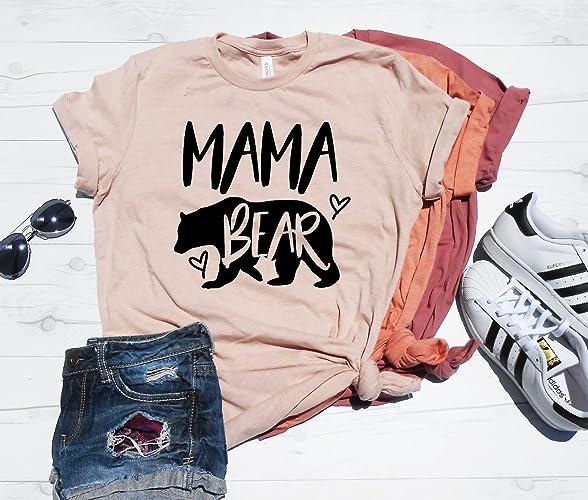 215e14cf Amazon.com: Mama Bear Shirt, Mama Bear T-Shirt, Cute Mama Bear Shirt, Mom  Shirt, Gift For Mom, Mama Shirt, Mama Gift,: Handmade